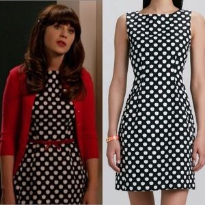 Kate Spade Domino Apple Mini Dress Black White
